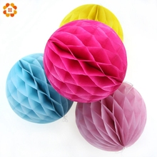 10PCS/Lot 4''(10cm)Can Mix Colors Tissue Paper Lantern Honeycomb Ball For Home Wedding &Birthday Party /Baby Shower Decoration(China)