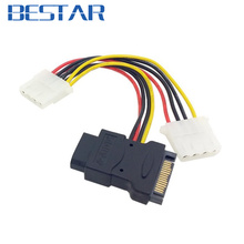 90 Degree Angled SATA 15PIN PCB Side Three POWER IDE 4pin Power Cable Hard Disk Motherboard ide sata cable - Shenzhen Beststar Electronics Co.,LTD store