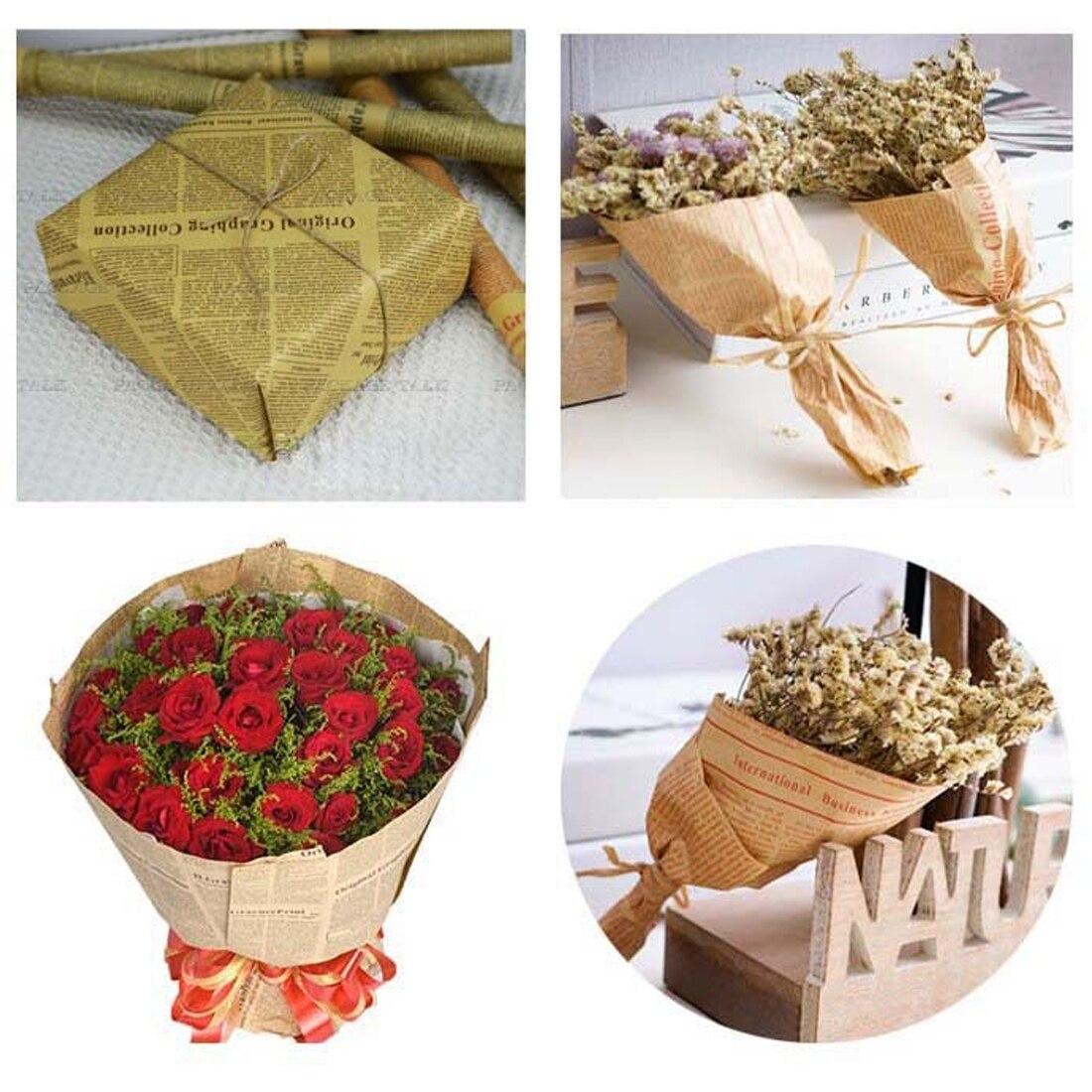 Газетная упаковка для цветов