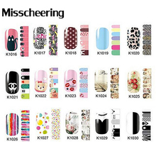 1sheet Nail Art Stickers Flowers Cartoon Designs Full Cover Self-adhesive Nail Foils Decal,Nail Patch,Fingernail Decoration