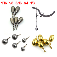 1.7g ~ 10g Drop Shots for Bass Fishing Tungten Lead Brass Fishing Rig Drop Shot Weight 1/4 3/15oz 1/8oz Lure Fishing Accessories(China)