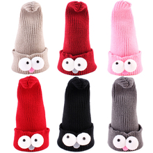 Baby Hat Winter Hats for Girls Kids Boys Warm Knitted Children's Baby Hat Caps Cartoon Big Eyes Skull Beanies Hip Hop Child Cap(China)