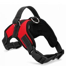 New hot Medium and large dog harness vest Reflective tape yarn Breathable and comfortable mesh pet dog leash big dog harness(China)