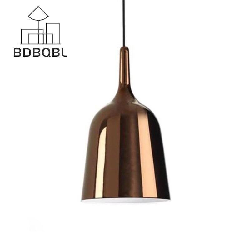 BDBQBL Modern Simple Pendant Lights LOFT Nordic Restaurant Camper Lamp Bell Pendant Lamp Personality Decorative Lamp 4 Colors<br>