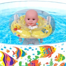 Cute Baby Infant Swimming Neck Ring Float Ring Inflatable Bath Protection Circle for 1-18 Months Baby Swimming Circle