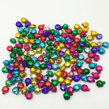 10000pcs 6mm Multi Color Aluminum Jingle Bells Keychain Charming Lacing bell For Christmas Decorations DIY Jewelry Making Crafts(China)