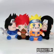 4pcs/set Anime Naruto Uchiha Itachi Sasuke Gaara stuffed toy soft plush doll figure kid gift