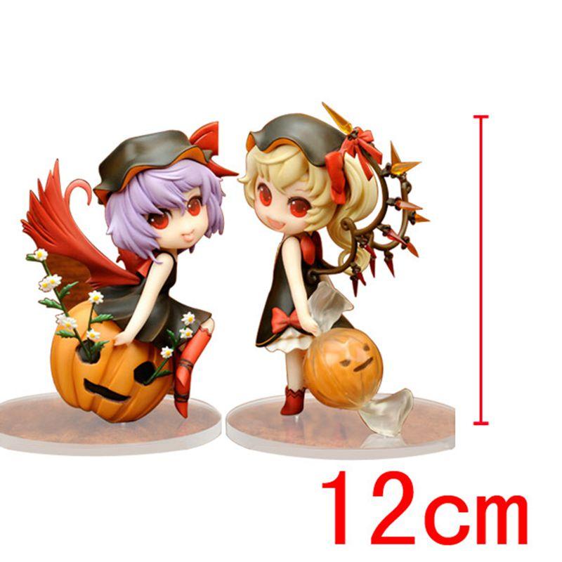 Anime Model Touhou Project Flandre Scarlet Remilia Scarlet Pumpkin Action Figure Collection Toy 2pcs/set Halloween Gift for Kids<br>