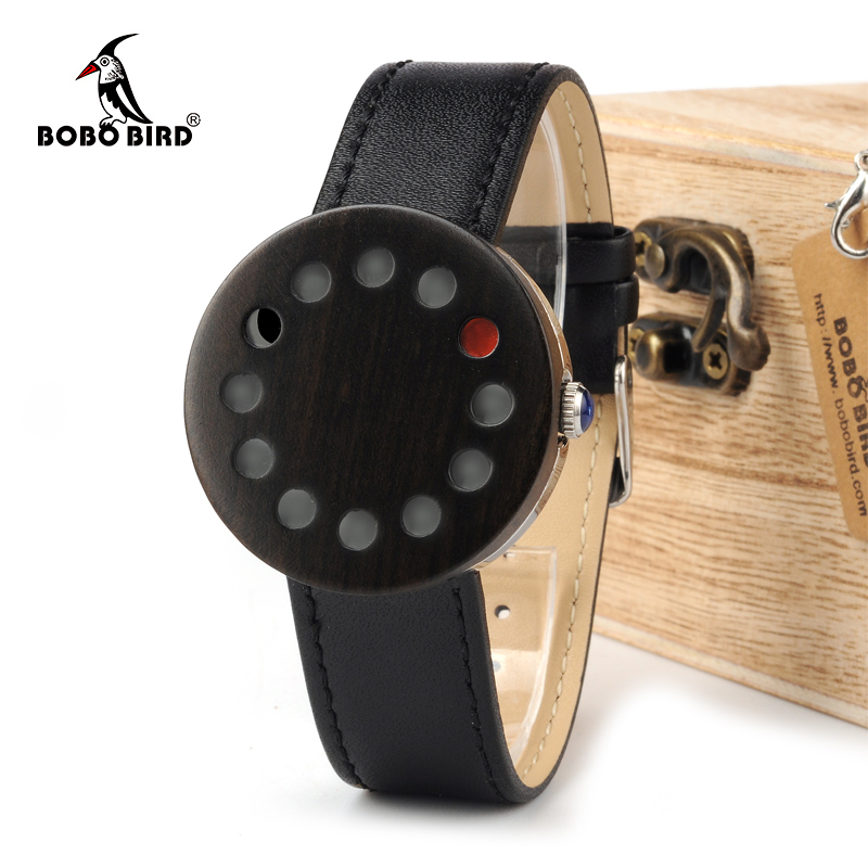 BOBO BIRD WC12 12holes Brand Design Wood Watches Mens Watch Top Luxury For Women Real Leather Straps as Best Gifts<br>