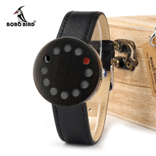 BOBO BIRD WC12 12holes Brand Design Wood Watches Mens Watch Top Luxury For Women Real Leather Straps as Best Gifts(China)