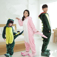 c1ea3f41f1 20 Style Family Matching Outfits Flannel Winter Cartoon Animal Pajama Set  Couple Household Clothes Sleepwear Girls