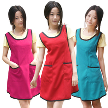 Korean Home Women Kitchen Apron Cooking Coffee Shop Work Chef Aprons For Woman Female Tablier Cuisine Can Be Customized 9 color