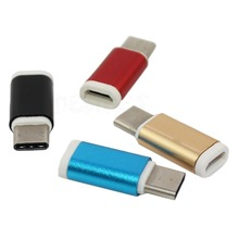 1pcs white/gold/blue/ red Metal  data line switching head Micro mother to turn Type-c usb