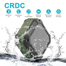 CRDC Bluetooth Speaker Subwoofer Powerful IP65 Waterproof Mini Portable Wireless Music Speakers for Outdoor Phone(China)