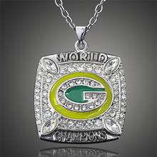 Awesome Wisconsin Green Bay Packers Aaron Rodgers Replica Super Bowl Sports Men Pendant Necklace D00515(China)