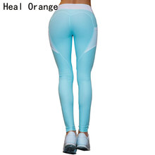 HEAL ORANGE Heart Patchwork Sport Leggings Women Push Up Sexy Yoga Pants Leggins Fitness Clothing Running Tights Gym Sportswear(China)