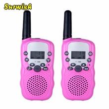 2Pcs Two-Way Radio Interphone Handheld Mini Walkie Talkies Early Development Education Toys Children