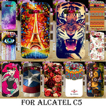 Soft TPU Hard Plastic Cases Cover For Alcatel OneTouch One Touch pop c5 5036 OT5036 5036D Phone Case Cover Shell C5 Back Cover