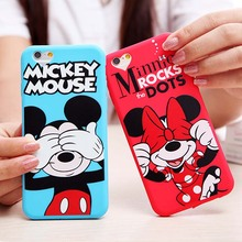 For iPhone 6 Case Cute Cartoon Minnie Mouse Soft Silicone Phone Cases For Apple iPhone 6 6S 6/6S Plus 5 5S SE Back Cover Fundas