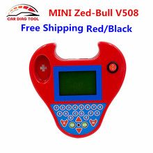 Smart MINI Zed-Bull ZED Bull V508 Black/Red Color Car Blank Chips Transponder Programmer Read Pin Code No Tokens Limitation