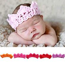 Infant Toddler Baby Handmade Knitted Crochet Baby Imperial crown Pattern Cap Hat Photography Prop