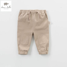 DB4544 dave bella New baby girls boys casual pants infant pants khaki pants(China)