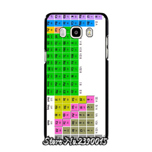 Chemistry College Periodic Tables Rubber Cover Case for Samsung Galaxy A3 A5 A7 A8 A9 J1 Ace mini J2 J3 pro J5 J7 2016 Silicon