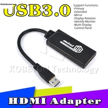 kebidumei Newest HD 1080P Hdmi Cable USB 3.0 male to HDMI Female Video Cable Adapter Converter For PC Laptop TV(China)