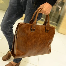 High Quality PU Leather Bag Men Briefcase Leisure Handbag Men Shoulder Bag Tote Business Casual Tote for Tablet PC
