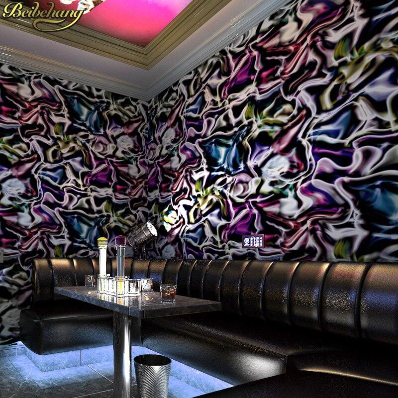 beibehang KTV wallpaper flash theme box bar 3d three-dimensional personality disco mosaic square grid background papel de parede<br>