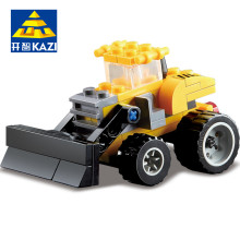 KAZI City Building Blocks Construction Engineering Blocks Truck Action Figures Building Blocks Playmobil Toys for Children