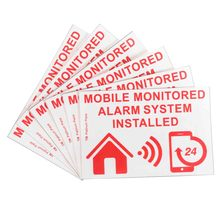 Safurance 6xMobile Monitored Alarm System Installed Warning Sign External Sticker 130x87mm Home Security Safety(China)
