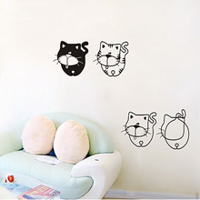 Free shipping Cartoon Creative Environmentally friendly materials Four round Cat DIY Quote Words Decal   Art Wall Stickers