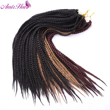 Amir 22inch Synthetic Box braiding Hair with black  blond and  burgundy Long hair Extentions 3S Crochet Braid Hairpieces