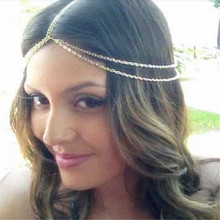 Fashion exaggerated golden hair accessories chain Europe and the United States foreign trade jewelry wholesale(China)