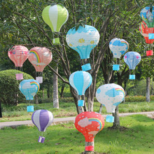 25 30 35 40cm Rainbow Hot Air Balloon Paper Lantern 1pc Wedding Decoration Children's Bedroom Hanging Birthday Party Decorations