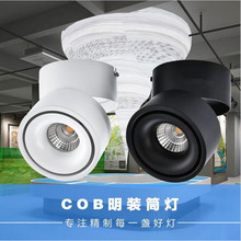 High Power Adjustable Surface Mounted LED Downlight Warm Cool White 15W 20W Dimmable COB LED Down Light Indoor light Free Shippi(China)
