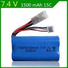 Buy 7.4V 1500mAh lipo battery lipo 2s accessories FT009 rc toys boat speedboat model aircraft 18650 for $10.49 in AliExpress store