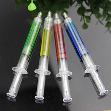4 PCS Liquid Novelty Syringe Ballpoint Pen Stationery Creative Ballpoint Pen School Office Supplies Creative Gifts(China)