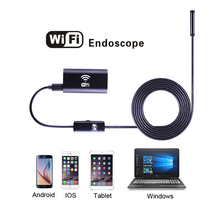 1m 1.5m 2m 3.5m 5m Soft Hard Cable Wifi Endoscope Camera with 8mm Lens Waterproof IOS Iphone Endoscope Android Car Endoscope