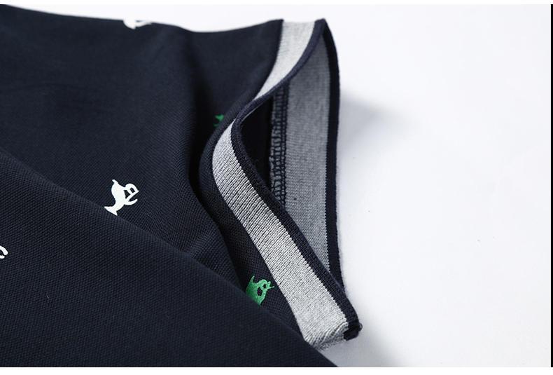2Pcs Lot Mens  Shirt Coon Polka Dot Summer Short 3XL Male  Men Top Tees Cool Muls Brand Clothing Navy Black White Gray-03
