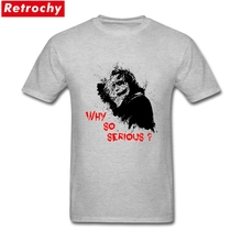 Original Why So Serious Joker Shirts for Men Short Sleeved Cotton Tee Heath Ledger Batman Youth Guys Custom Printed T shirts(China)
