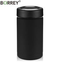 Borrey Stainless Steel Thermos Vacuum Flask Mug Small Metal Bottle Coffee Travel Insulated Tea