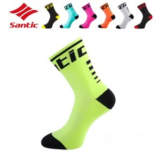 2017 Santic Cycling Socks Men Women Breathable Outdoor Running Bike Basketball Soccer Sport Socks Calcetines Chaussette Cyclismo(China)