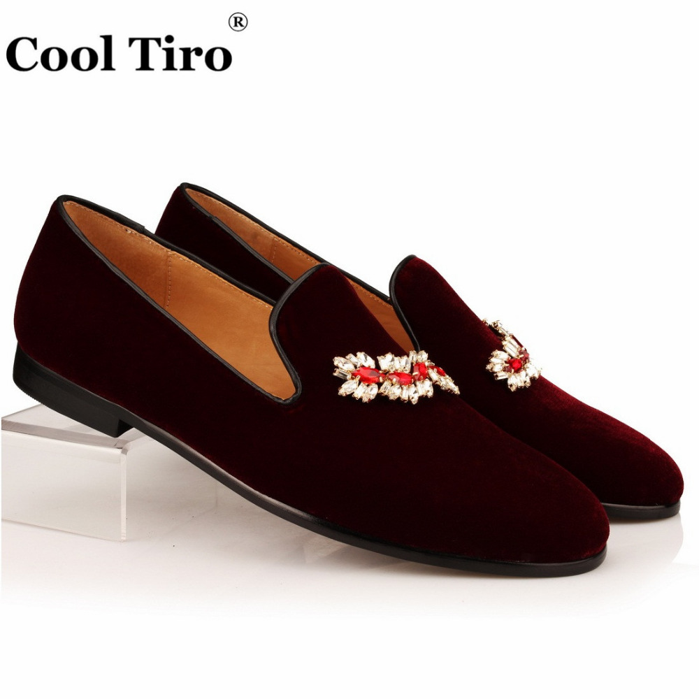VELOUR BURGUNDY SLIPPERS Loafers (1)