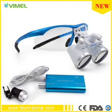 Free Shipping Dental Lab Dental Equipment Surgical dental glasses LED Head Light Lamp Medical dental Loupes