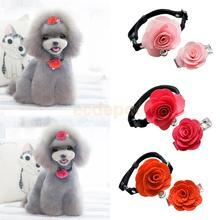 Various Dog Cat Puppy Rose Flower Lace Bell Hair Pin Bows Neck Tie Collar Set