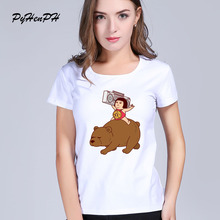 New 2017 China Style Design T Shirt Summer Women Children on the bear printes Novelty Funny Cool Short Sleeve Tee Tops