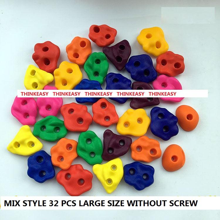 HTB1i YcRXXXXXXWaXXXq6xXFXXXT - 16 to 32 PCS / SET Plastic children Rock Climbing Wall Rock Stones Kids Toys Sports tool outdoor game kindergarten Without scre
