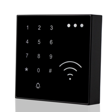 125KHz RFID Smart Card Reader NFC EM ID Reader Proximity With Doorbell Button Waterproof Touch Keypad For Access Control System(China)